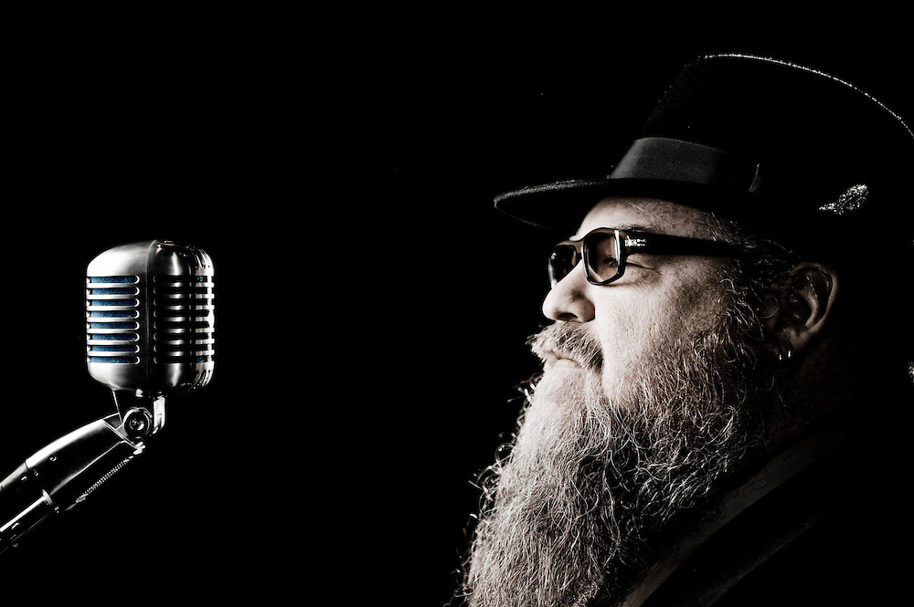 Promotional portrait of blues artist Big Jeff Chapman