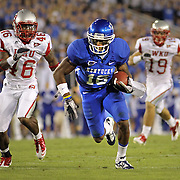 Sept. 11, 2010 - Lexington, Kentucky, USA -  University of Kentucky's RANDALL COBB runs ahead of WKU's KAREEM PETERSON, left, for a 40-yard reception in the first half as the University of Kentucky played Western Kentucky University at Commonwealth Stadium. Kentucky won the game, 63-28. (Credit image: © David Stephenson/ZUMA Press)