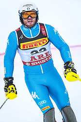 17.02.2019, Aare, SWE, FIS Weltmeisterschaften Ski Alpin, Slalom, Herren, 2. Lauf, im Bild Giuliano Razzoli (ITA) // Giuliano Razzoli of Italy reacts after his 2nd run of men's Slalom of FIS Ski World Championships 2019. Aare, Sweden on 2019/02/17. EXPA Pictures © 2019, PhotoCredit: EXPA/ Dominik Angerer