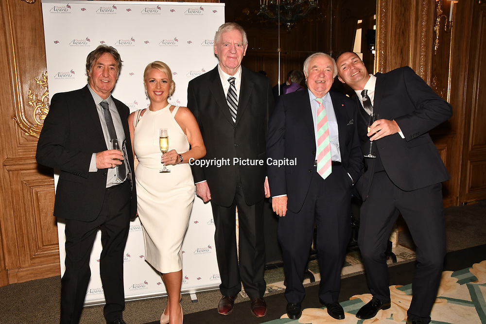 Lawrie McMenemy, Jimmy Tarbuck and guests attend the 7th annual Churchill Awards honour achievements of the Over 65's at Claridge's Hotel on 10 March 2019, London, UK.