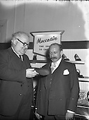 1955 Mr Jones and Mr CK Rudkin, Managing Director Moccasin Shoemakers