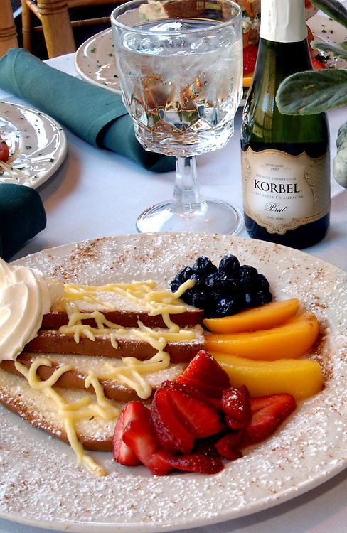 French Toast and Champagne top the list of popular brunch choices at Cheekwood's Pinapple Room in Nashville, Tennessee. Untitled