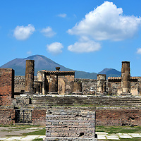 Temple of Jupiter at Forum in Pompeii, Italy<br />