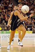 Joline Henry from New Zealand chases down a deflected ball<br /> International Netball Test Series: <br /> Australia vs New Zealand at the Vodafone Arena<br /> Melbourne, Victoria.  Australia<br /> Saturday 21 July 2007<br /> (AAP Image/Jeff Crow) NO ARCHIVING