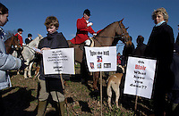Fox Hunting.Hampshire, England, February 19th, 2005 - Vale of Aylesbury with Garth and south hunt, Joint master, and his family supporting fight against fox hunting ban