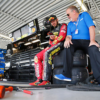 May 11, 2018 - Kansas City, Kansas, USA: Martin Truex, Jr (78) gets ready to practice for the KC Masterpiece 400 at Kansas Speedway in Kansas City, Kansas.
