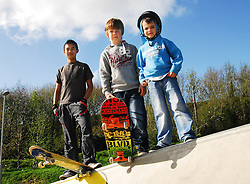 Ready for action athe the opening of the Westport Greenway park,.Ian Ryan, Dermot and Declan Mooney...Pic Conor McKeown