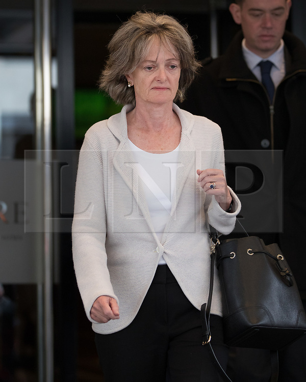 © Licensed to London News Pictures. 14/09/2017. London, UK. Kensington and Chelsea Council Leader Elizabeth Campbell leaves The Connaught Rooms after attending the first day of the public inquiry into the Grenfell fire. Police say they believe 80 people died in the tragedy. Photo credit: Peter Macdiarmid/LNP
