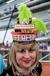 The 2014 Dubai World Cup horse racing festival at Meydan Racecourse in Dubai United Arab Emirates