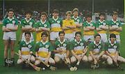 All Ireland Senior Hurling Championship Final,.07.09.1986, 09.07.1986, 7th September, 1986,.07091986AISHCF,.Cork 4-13, Galway 2-15,.Minor Cork v Offaly,.Senior Cork v Galway,..Offaly Minor Team, J Errity, P Nallen, R Mannion, D Sherlock, J Kilmartin, M Hogan (Birr) (capt), B Kelly, D Geoghegan, A Kelly, G Cahill, D Regan, R Byrne, T Moylan, M Duignan, D Pilkington, Sub, B Dooley for D Sherlock,.