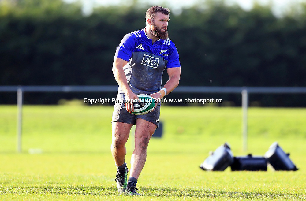 New Zealand All Blacks Squad Training, Westmanstown, Dublin 15/11/2016<br /> Liam Coltman<br /> Photo: &copy;INPHO/Donall Farmer / www.photosport.nz