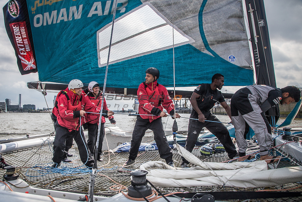 2015 Extreme Sailing Series - Act 5 - Hamburg.<br /> <br /> Credit Jesus Renedo.