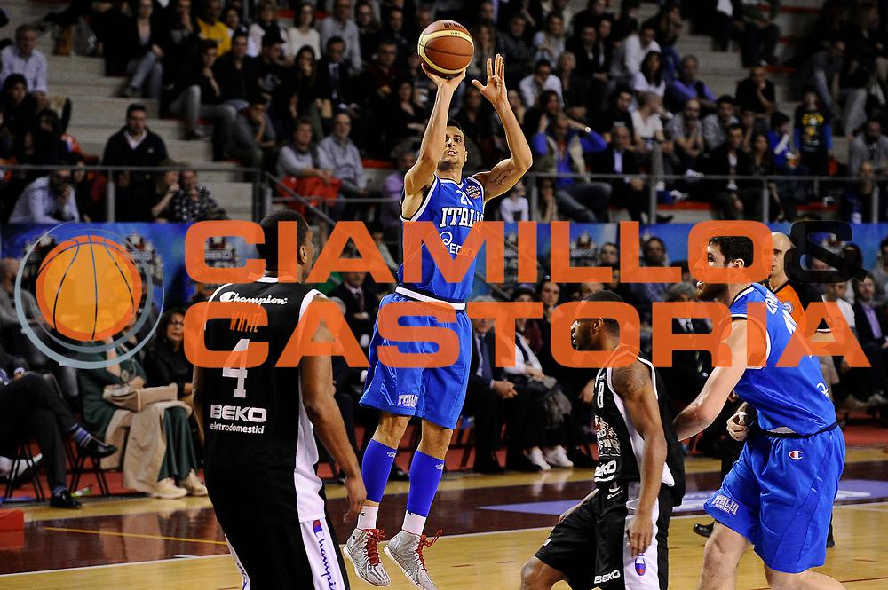 DESCRIZIONE : Ancona Beko All Star Game 2013-14 Beko All Star Team Italia Nazionale Maschile<br /> GIOCATORE : Andrea Cinciarini<br /> CATEGORIA : tiro<br /> SQUADRA : All Star Team Italia Nazionale Maschile<br /> EVENTO : All Star Game 2013-14<br /> GARA : Italia All Star Team<br /> DATA : 13/04/2014<br /> SPORT : Pallacanestro<br /> AUTORE : Agenzia Ciamillo-Castoria/M.Marchi<br /> Galleria : FIP Nazionali 2014<br /> Fotonotizia : Ancona Beko All Star Game 2013-14 Beko All Star Team Italia Nazionale Maschile<br /> Predefinita :