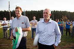 Van Keerberghen Georges (BEL) voorzitter LRV, Keersmaekers Kris (BEL) voorzitter BWP<br /> Nationaal Ruitertornooi LRV Tielen 2014<br /> © Dirk Caremans