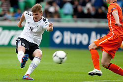 Timo Werner of Germany during the UEFA European Under-17 Championship Final match between Germany and Netherlands on May 16, 2012 in SRC Stozice, Ljubljana, Slovenia. (Photo by Urban Urbanc / Sportida.com)