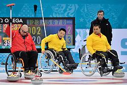 Gregor Ewan, Wei Liu, Haito Wang, Wheelchair Curling Finals at the 2014 Sochi Winter Paralympic Games, Russia