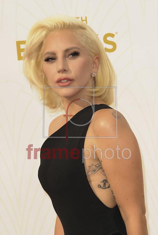 *BRAZIL ONLY* ATENÇÃO EDITOR, FOTO EMBARGADA PARA VEÍCULOS INTERNACIONAIS*  wenn22909999  Lady Gaga na 67a edição da premiação anual Emmy Awards, que aconteceu neste domingo (20/09) no Microsoft Theatre, em Los Angeles. Foto: Apega/Wenn/Frame