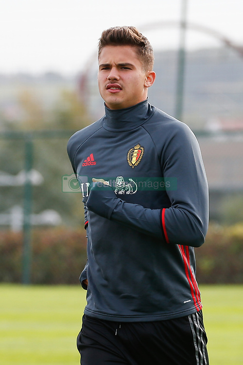 October 4, 2017 - Tubize, BELGIUM - Belgium's Leander Dendoncker pictured during a training session of Belgian national soccer team Red Devils, Wednesday 04 October 2017, in Tubize. The team is preparing for World Cup qualification games against Bosnia on Saturday, and Cyprus on Monday. BELGA PHOTO BRUNO FAHY (Credit Image: © Bruno Fahy/Belga via ZUMA Press)