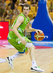 Goran Dragic of Slovenia during friendly match between National teams of Slovenia and Serbia for Eurobasket 2013 on August 3, 2013 in Arena Zlatorog, Celje, Slovenia. Slovenia derated Serbia 67-52. (Photo by Vid Ponikvar / Sportida.com)