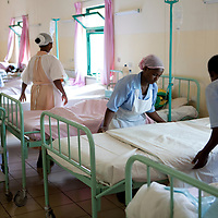 Former fistula patients change bedding in the Hamlin Fistula Hospital in Bahir Dar, Ethiopia.