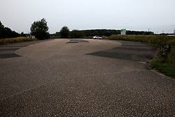 FRANCE GRANDE SYNTHE 2AUG17 - An empty parking lot  used by charity groups distributing food and supplies to refugees dwelling at the unofficial Jungle II camp near Grande Synthe, Dunkirk, northern France. An estimated 300-400 stranded refugees are thought to be staying in the woodlands.<br /> <br /> jre/Photo by Jiri Rezac<br /> <br /> © Jiri Rezac 2017