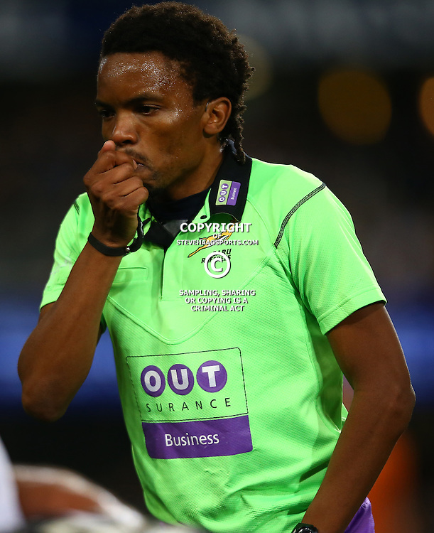DURBAN, SOUTH AFRICA - SEPTEMBER 10: Referee Rasta Rasivhenge during the Currie Cup match between the Cell C Sharks and Toyota Cheetahs at Growthpoint Kings Park on September 10, 2016 in Durban, South Africa. (Photo by Steve Haag/Gallo Images)