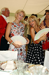 Left to right, ELLIE SHEPHERD and HANNAH SANDLING at the Cartier International polo at Guards Polo Club, Windsor Great Park, on 30th July 2006.<br /><br />NON EXCLUSIVE - WORLD RIGHTS
