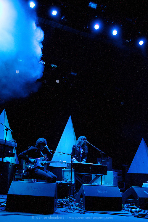 "Beach House perform on September 3, 2010 in support of ""Teen Dream"" at Red Rocks Amphitheater in Morrison, Colorado."
