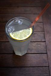UK ENGLAND OXFORD 30MAR14 - A glass of lemonade on a wooden table in Oxford, England.<br /> <br /> jre/Photo by Jiri Rezac<br /> <br /> © Jiri Rezac 2014