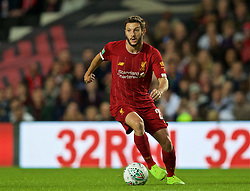 MILTON KEYNES, ENGLAND - Wednesday, September 25, 2019: Liverpool's Adam Lallana during the Football League Cup 3rd Round match between MK Dons FC and Liverpool FC at Stadium MK. (Pic by David Rawcliffe/Propaganda)