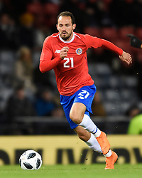 Costa Rica's Maecos Urena in action during the international friendly match at Hampden Park, Glasgow. RESTRICTIONS: Use subject to restrictions. Editorial use only. Commercial use only with prior written consent of the Scottish FA.