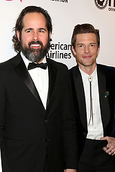 February 24, 2019 - West Hollywood, CA, USA - LOS ANGELES - FEB 24:   Brandon Flowers, Ronnie Vannucci Jr, The Killers at the Elton John Oscar Viewing Party on the West Hollywood Park on February 24, 2019 in West Hollywood, CA (Credit Image: © Kay Blake/ZUMA Wire)