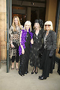 Victoria Cook, Adrianne Cooke, Jan de Villeneuve and Barbara Hulanicki. The Biba Ball in aid of CLIC Sargent. Victoria & Albert Museum, London. 11 May 2006.ONE TIME USE ONLY - DO NOT ARCHIVE  © Copyright Photograph by Dafydd Jones 66 Stockwell Park Rd. London SW9 0DA Tel 020 7733 0108 www.dafjones.com