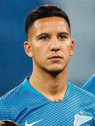 February 21, 2019 - Saint Petersburg, Russia - Sebastian Driussi of FC Zenit Saint Petersburg looks on during the UEFA Europa League Round of 32 second leg match between FC Zenit Saint Petersburg and Fenerbahce SK on February 21, 2019 at Saint Petersburg Stadium in Saint Petersburg, Russia. (Credit Image: © Mike Kireev/NurPhoto via ZUMA Press)