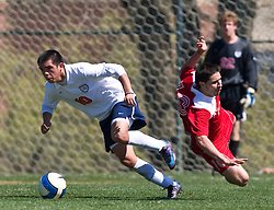Virginia Cavaliers midfielder Jonathan Villanueva (10).  The North Carolina State Wolfpack defeated the Virginia Cavaliers 1-0 in NCAA Men's Soccer during a spring scrimmage at the Klockner Stadium practice field on the Grounds of the University of Virginia in Charlottesville, VA on April 4, 2009.