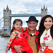 "See Li and Chinese Soprano  朱珍,Jane Maria sings 我和我的祖国,Me and my country to celebration of the 70th China National Day 2019 and a Chinese ""Qipao"" flash mob, London, 28 September 2019, UK."