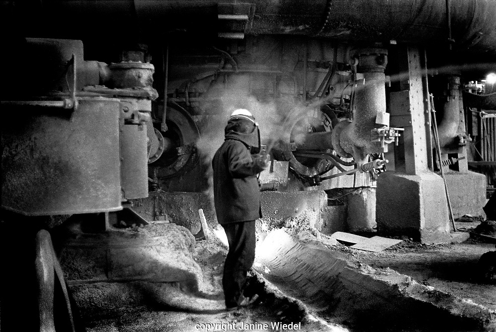 Shelton Bar Iron and Steel works in Stoke on Trent  in Staffordshire , West Midland England in1970's