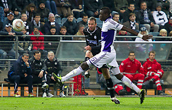 20.10.2011, UPC Arena, Graz, AUT, UEFA Europa League, Sturm Graz (AUT) vs RSC Anderlecht (BEL), im Bild Mario Haas (SK Sturm Graz, #7, Offense) gegen Cheikhou Kouyate (RSC Anderlecht, Midfield, #16) // during UEFA Europa League football game between Sturm Graz (AUT) and RSC Anderlecht (BEL) at UPC Arena in Graz, Austria on 20/10/2011. EXPA Pictures © 2011, PhotoCredit: EXPA/ E. Scheriau