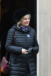 Downing Street, London, February 11th 2016. Small Business Minister Anna Soubry leaves the weekly cabinet meeting. <br /> ©Paul Davey<br /> FOR LICENCING CONTACT: Paul Davey +44 (0) 7966 016 296 paul@pauldaveycreative.co.uk