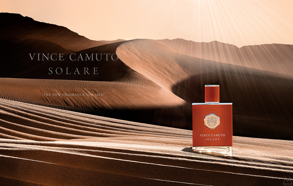 Vince Camuto Solare fragrance advertising photographs by Los Angeles based photographer Timothy Hogan.