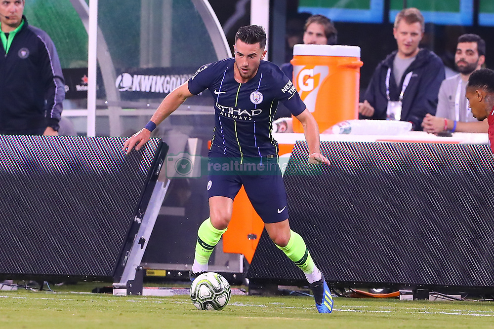 July 25, 2018 - East Rutherford, NJ, U.S. - EAST RUTHERFORD, NJ - JULY 25:  Manchester City forward Jack Harrison (38) during the first half of the International Champions Cup Soccer game between Liverpool and Manchester City on July 25, 2018 at Met Life Stadium in East Rutherford, NJ.  (Photo by Rich Graessle/Icon Sportswire) (Credit Image: © Rich Graessle/Icon SMI via ZUMA Press)