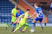 Jack Payne, Jamie Allen during the Sky Bet League 1 match between Rochdale and Southend United at Spotland, Rochdale, England on 25 March 2016. Photo by Daniel Youngs.