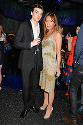 SASCHA BAILEY and his fiance MIMI NISHIKAWA at the Warner Music Group & Belvedere BRIT Awards After Party held at The Savoy, London on 19th February 2014.