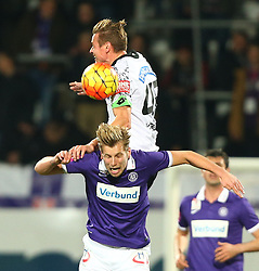 02.12.2015, Generali Arena, Wien, AUT, 1. FBL, FK Austria Wien vs SK Puntigamer Sturm Graz, 18. Runde, im Bild Roman Kienast (SK Puntigamer Sturm Graz) und Alexander Gruenwald (FK Austria Wien) // during Austrian Football Bundesliga Match, 18th Round, between FK Austria Vienna and SK Puntigamer Sturm Graz at the Generali Arena, Vienna, Austria on 2015/12/02. EXPA Pictures © 2015, PhotoCredit: EXPA/ Thomas Haumer