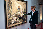 HENRY HUDSON, Private viewing of ' The Rake's Progress' in plasticine by Henry Hudson. 4a Roach Rd. London E3. <br /> <br />  , -DO NOT ARCHIVE-© Copyright Photograph by Dafydd Jones. 248 Clapham Rd. London SW9 0PZ. Tel 0207 820 0771. www.dafjones.com.