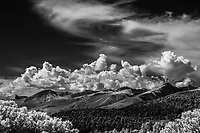 Sangre de Cristo Mountains and clouds; Fremont County, Colorado