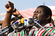 Convention People's Party (CPP) presidential  running mate Abu Sakara Forster speaks during a rally in Accra, Ghana on Sunday September 21, 2008.