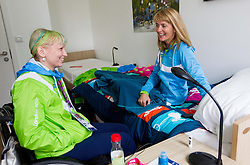 Mateja Pintar and Andreja Dolinar of Slovenia in Paralympic village during Day 2 of the Summer Paralympic Games London 2012 on August 29, 2012, in Pralympic village, London, Great Britain. (Photo by Vid Ponikvar / Sportida.com)