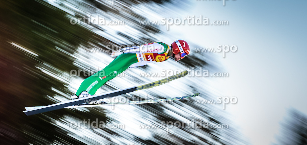 29.01.2016, Casino Arena, Seefeld, AUT, FIS Weltcup Nordische Kombination, Seefeld Triple, Skisprung, Wertungssprung, im Bild Fabian Riessle (GER) // Fabian Riessle of Germany competes during his Competition Jump of Skijumping of the FIS Nordic Combined World Cup Seefeld Triple at the Casino Arena in Seefeld, Austria on 2016/01/29. EXPA Pictures © 2016, PhotoCredit: EXPA/ JFK