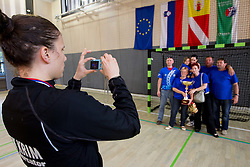 Jelena Grubisic of Krim after the last game of 1st A Slovenian Women Handball League season 2011/12 between ZRK Krka and RK Krim Mercator, on May 8, 2012 in Stopice at Novo mesto, Slovenia. RK Krim Mercator became Slovenian National Champion, GEN-I Zagorje placed second and ZRK Krka placed third. (Photo by Vid Ponikvar / Sportida.com)